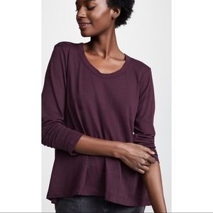 Wilt Open Neck Slubby Long Sleeve